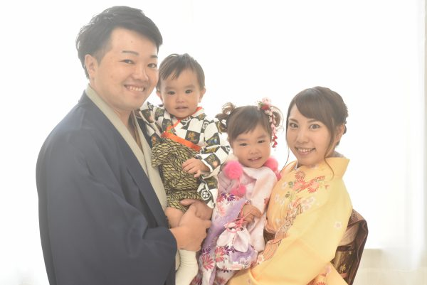 愛知県半田市家族で七五三の前撮り撮影