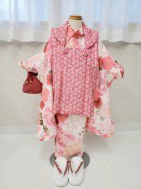 七五三 3歳女の子 柔らかく可愛らしい雰囲気の被布