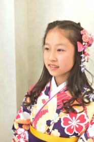 小学校の卒業式袴に合わせた髪型 ハーフアップ