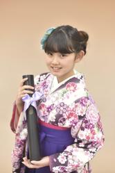 小学校の卒業式袴に合わせた髪型 お団子
