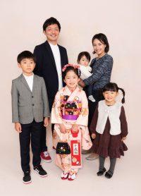 七五三女の子 ご家族撮影