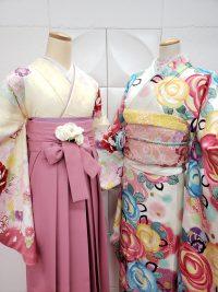 卒業袴振袖との姉妹風コーデ キュート女性らしい