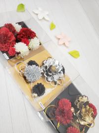 髪飾り 花の髪飾りゴールドシルバー 成人式卒業式